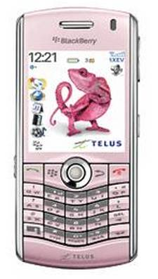 telus blackberry pearl 8130 pink
